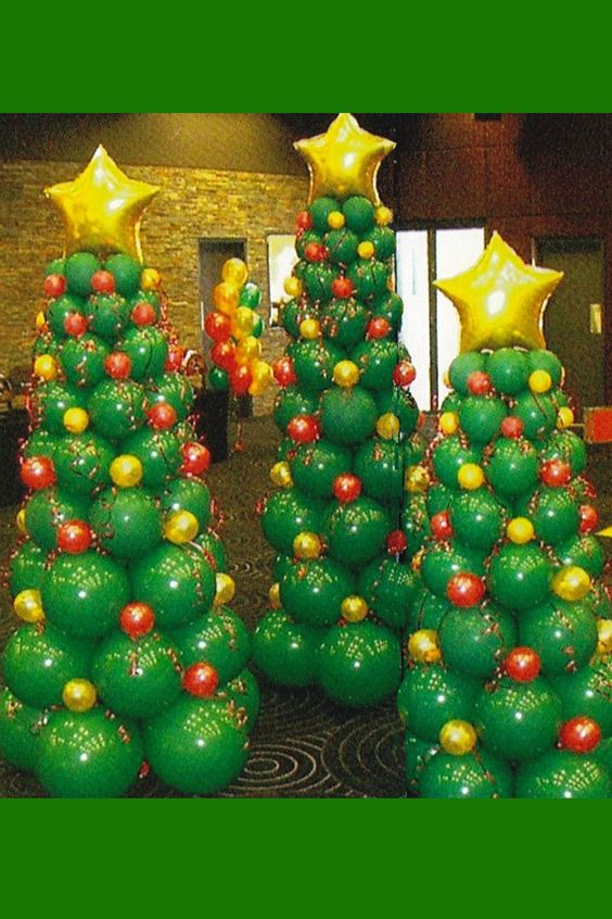 Balloon Christmas Tree.