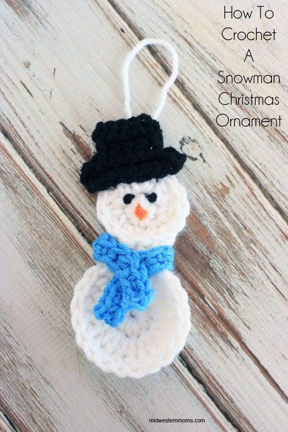 Snowman Christmas Ornament .