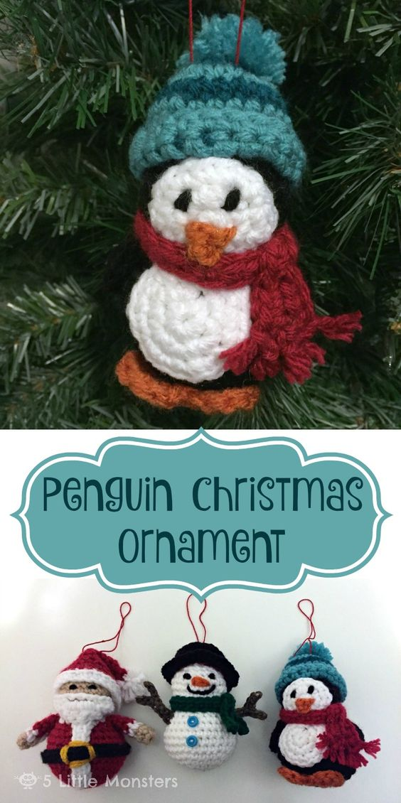 Penguin Christmas Ornament.