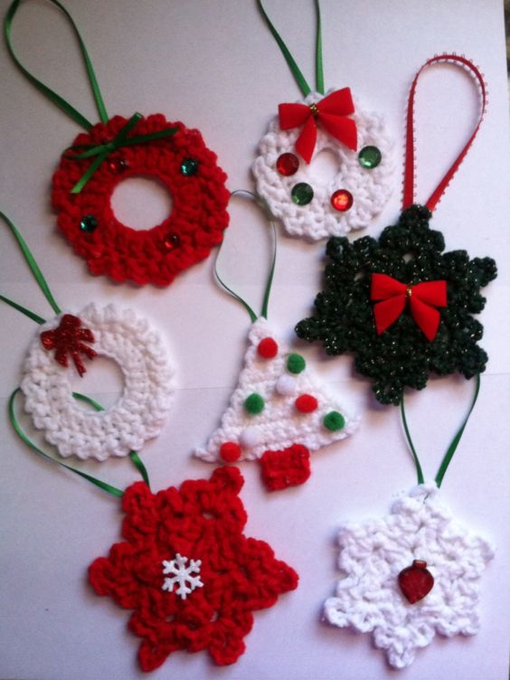 Pattern For Crochet Christmas Tree Decorations