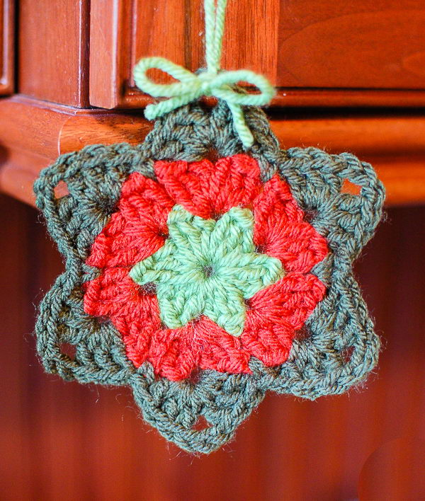 Granny Square Star Ornaments.
