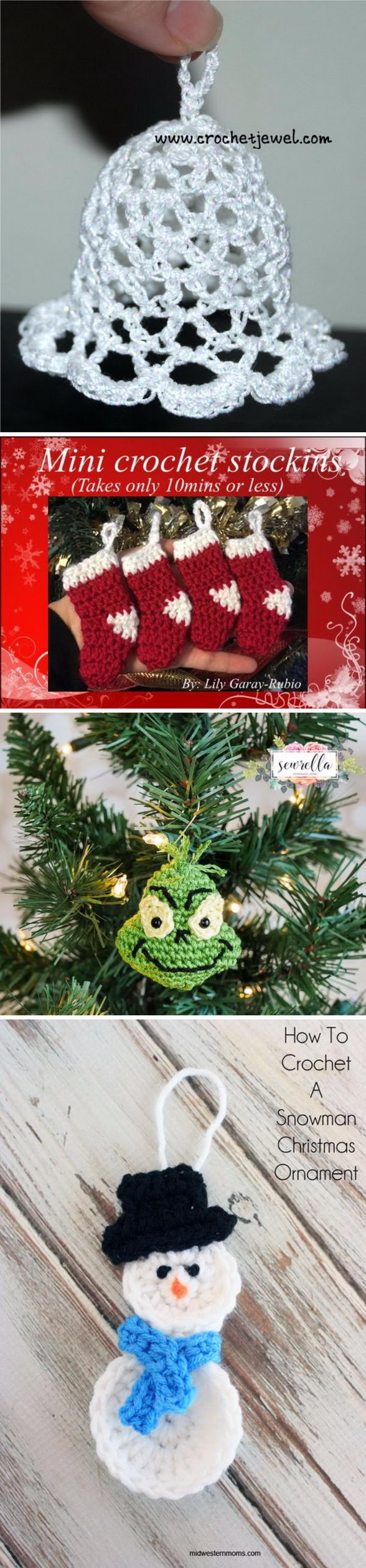 Wonderful DIY Crochet Christmas Ornaments.