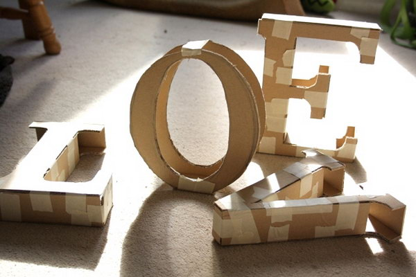 Decorative Cardboard Letters. Check out the tutorial