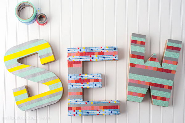 Colorful Washi Tape Letters.