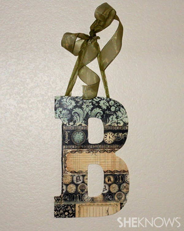 Shabby Chic Decorative Letters. See how
