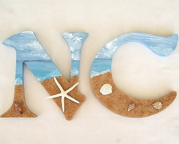 Beach Inspired Decorative Letters. See more