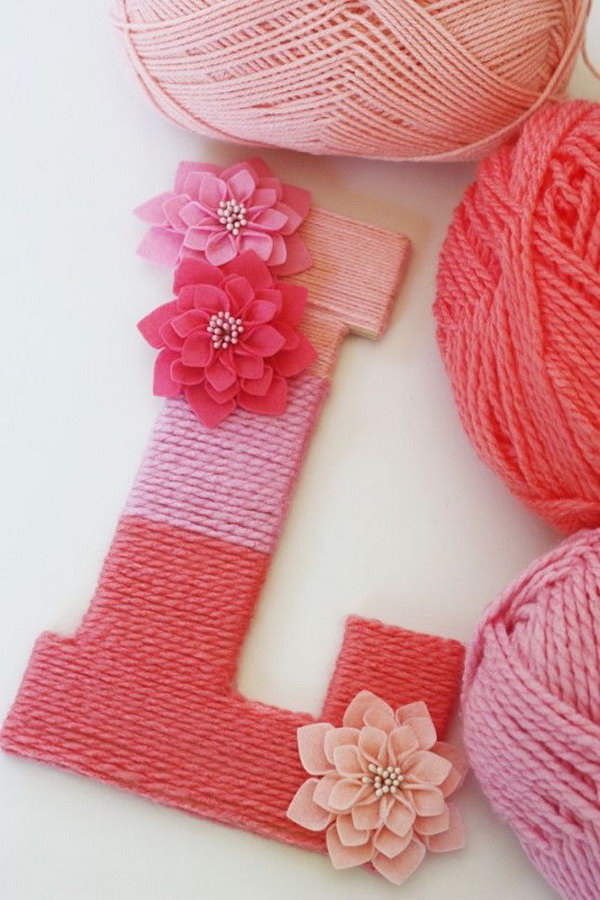 Yarn Wrapped Letters. Get the details