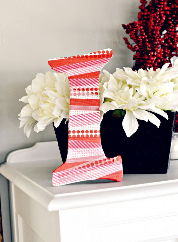 DIY Washi Tape Letter. See how