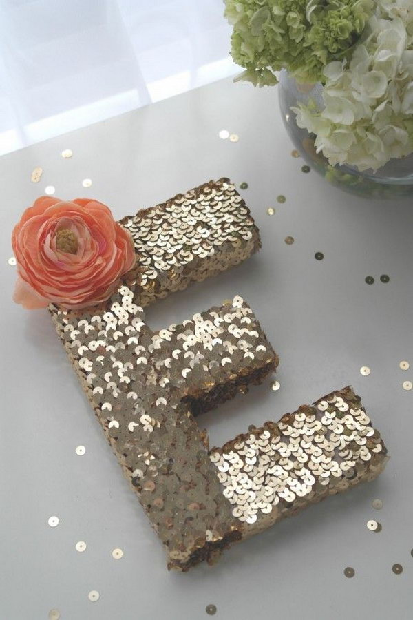 Easy to Do Sequin Monogram Letter.