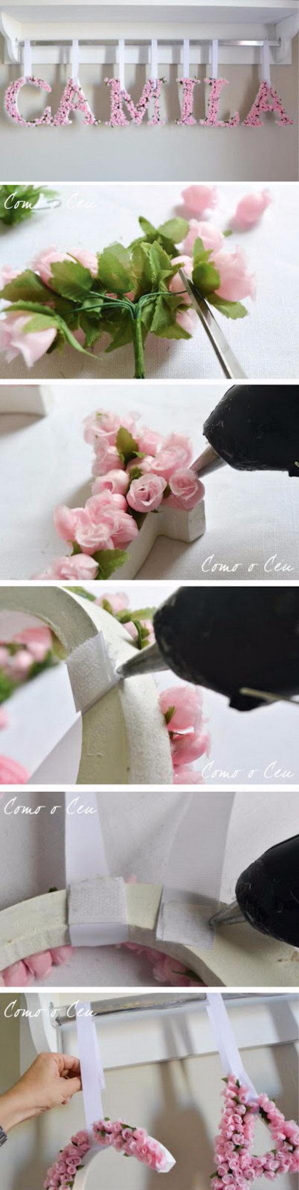 DIY Flower Letters.