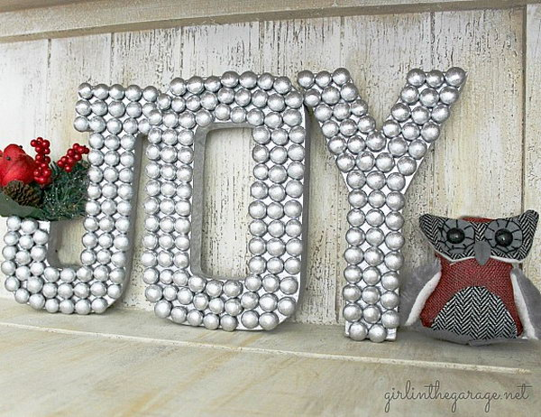 Beads Decorative Letters. See how