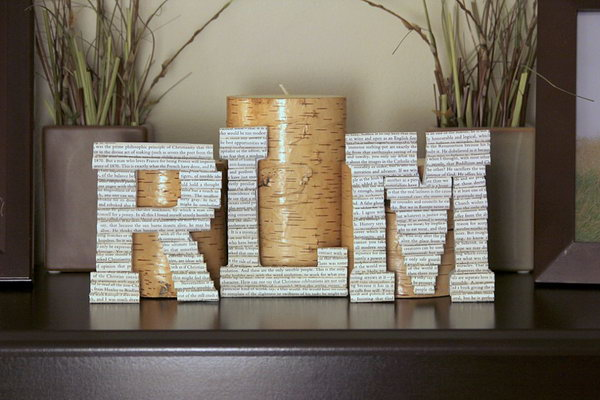 DIY Book Letter Monograms. Get the tutorial