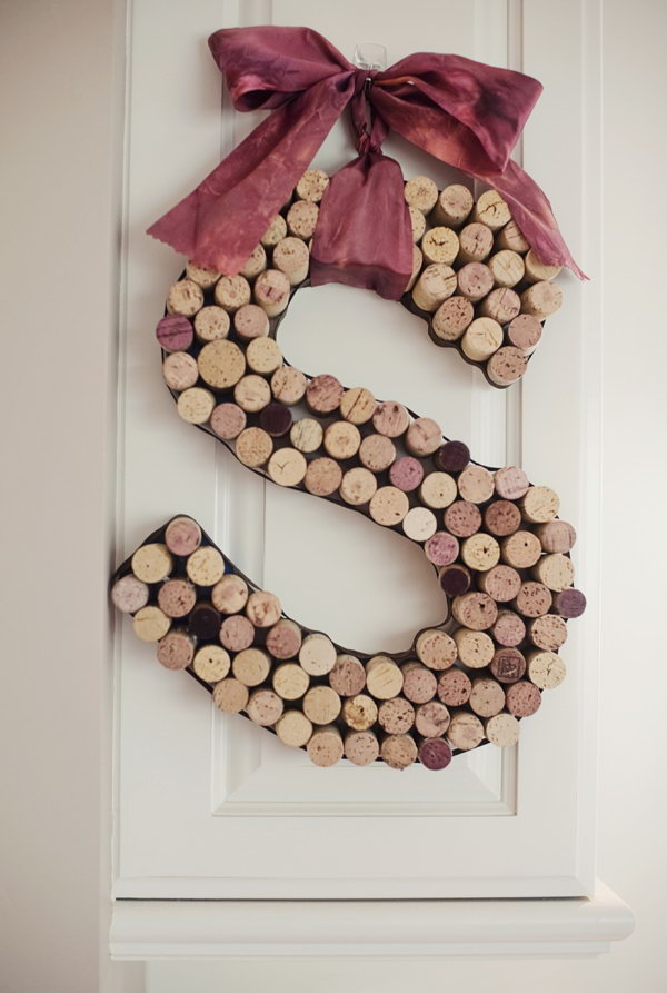Decorative Letters Made from Wine Corks. Get the tutorial