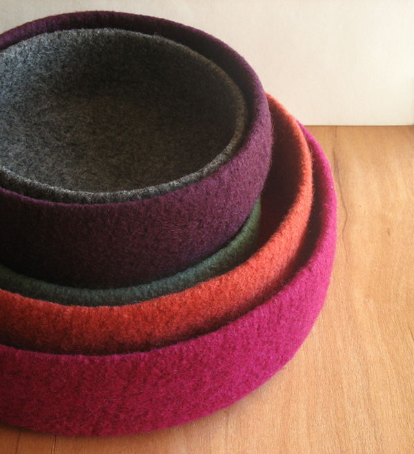 how to make a felted bowl