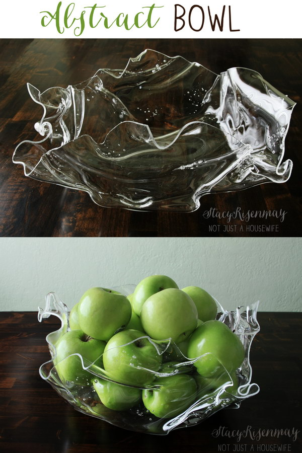 DIY Abstract Plastic Bowl. It's so beautiful and making one is much more easier than you might think. Get the tutorial