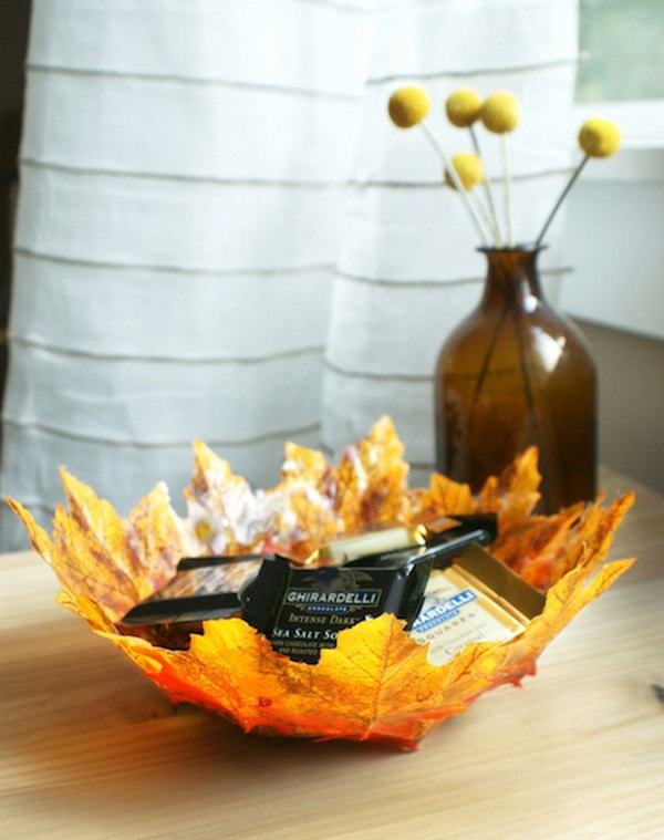 DIY Autumn Bowls. Get the tutorial