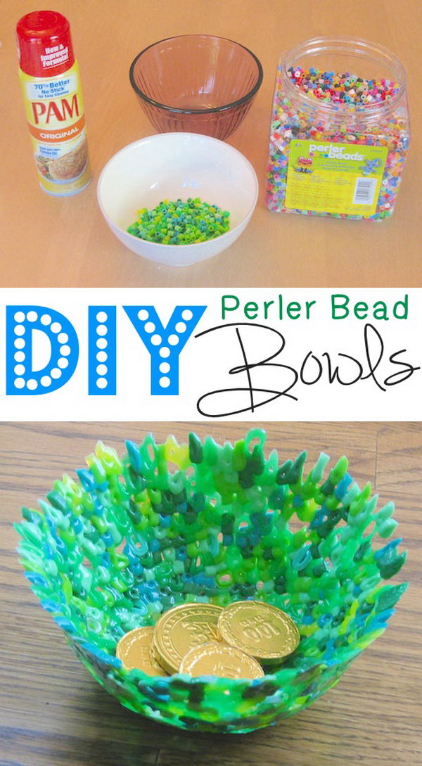 Perler Bead Bowls. Get the tutorial