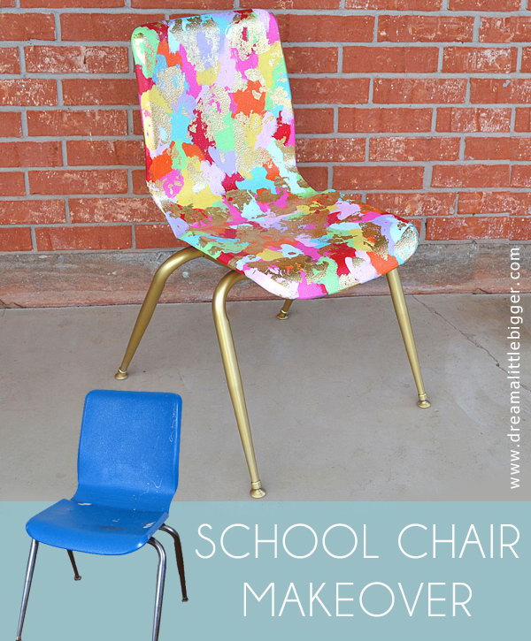 School Chair Makeover for Art Class