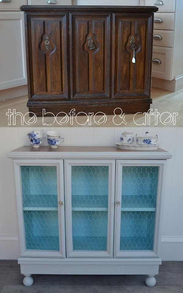 Cabinet into Buffet Makeover