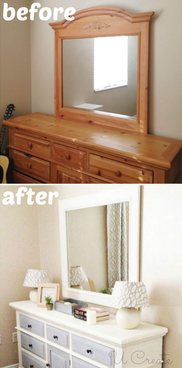 Dresser Makeover Using Chalk Paint