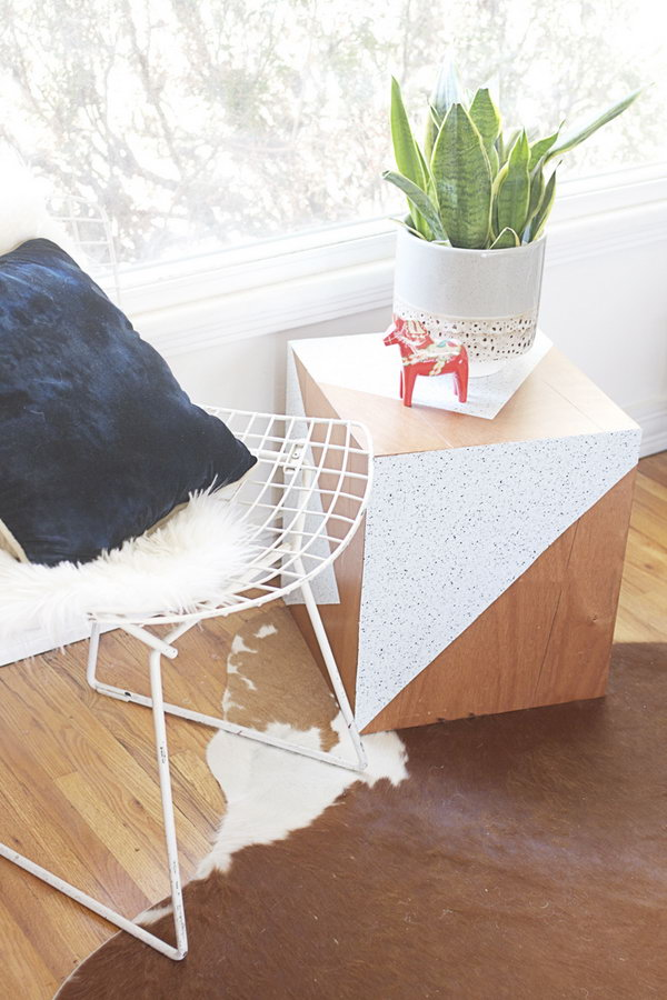 Revamped Geometric Side Table