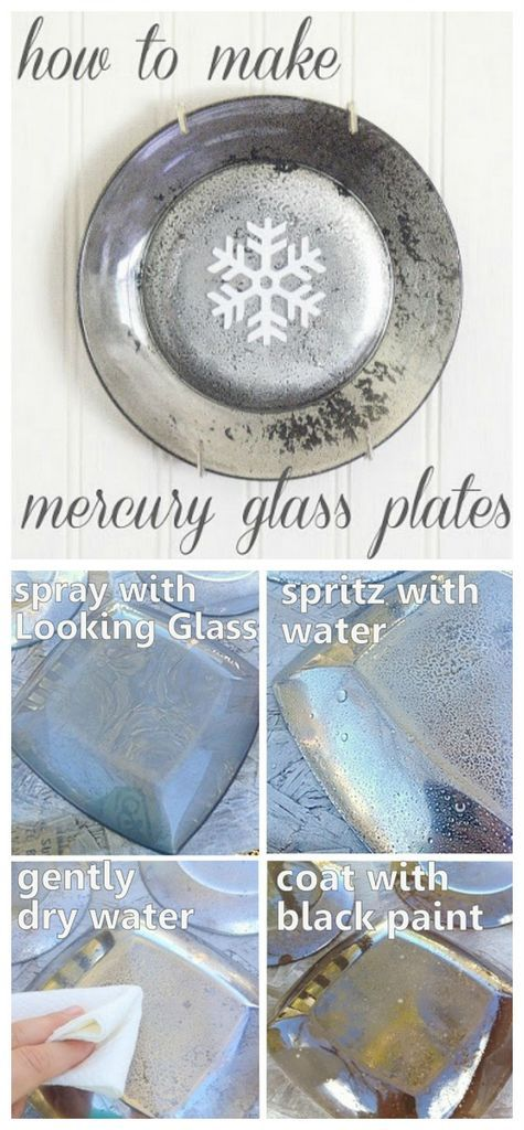 DIY Mercury Glass Plates