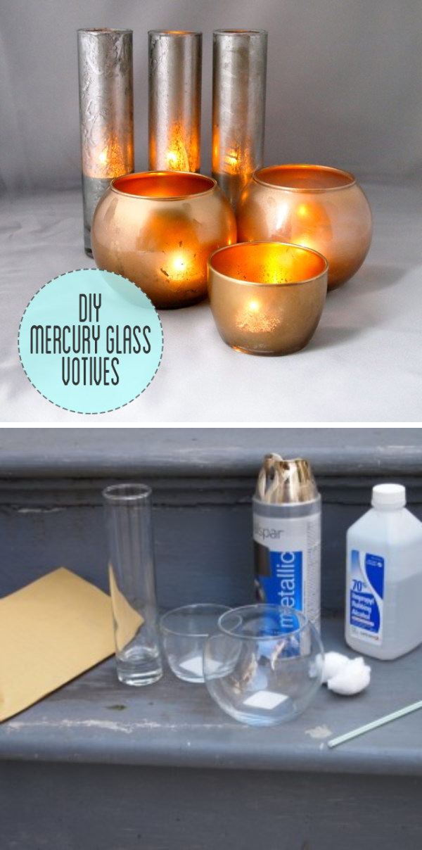 Easy Mercury Glass Votives