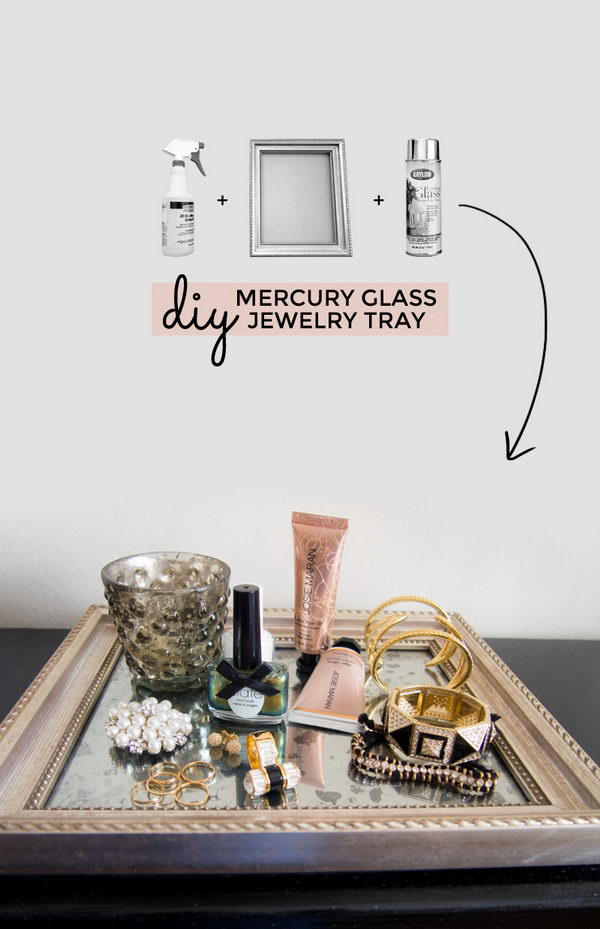 Mercury Glass Jewellery Tray Tutorial