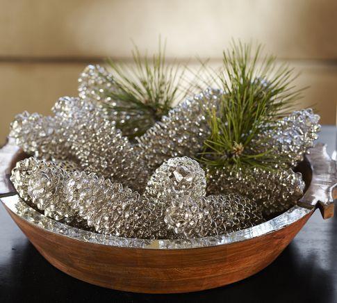 Mercury Glass Look Spray Paint Pine Cones