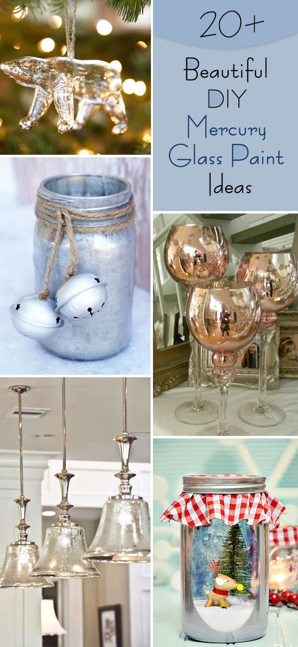 Beautiful DIY Mercury Glass Paint Ideas.