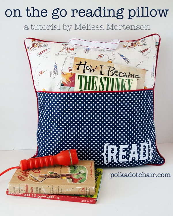 DIY Reading Pillow for Book Lovers