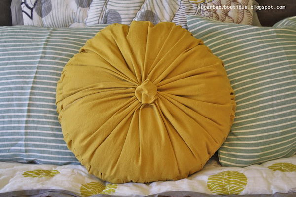 Anthropologie Rosette Round Pilliow Knock-Off