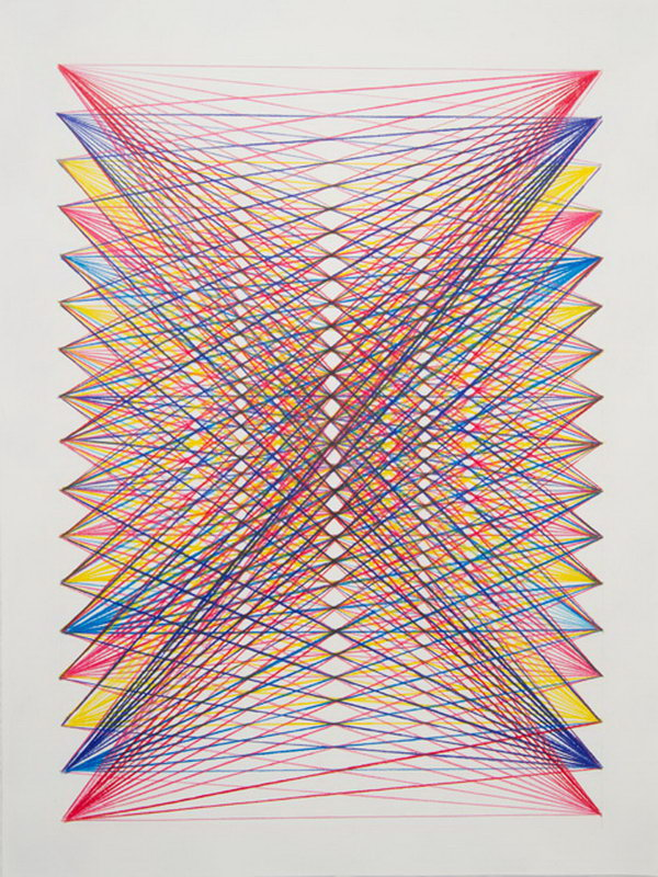Rainbow String Art. Get the tutorial
