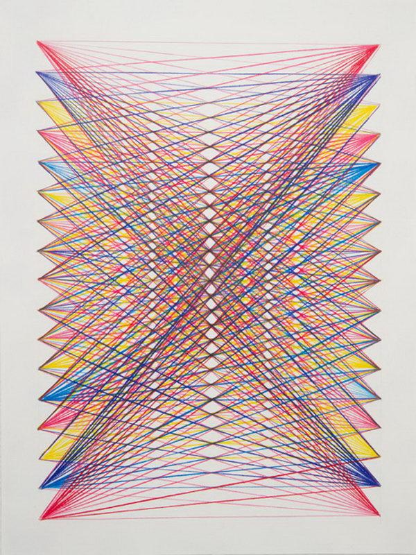 Rainbow String Art. Get the tutorial