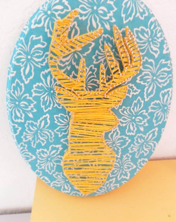 DIY Deer String Art. Get the tutorial