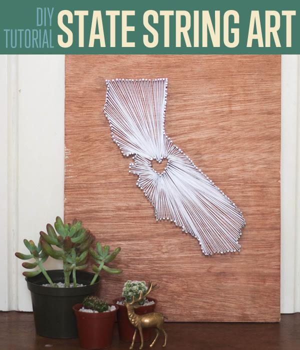 DIY State String Art. Get the steps
