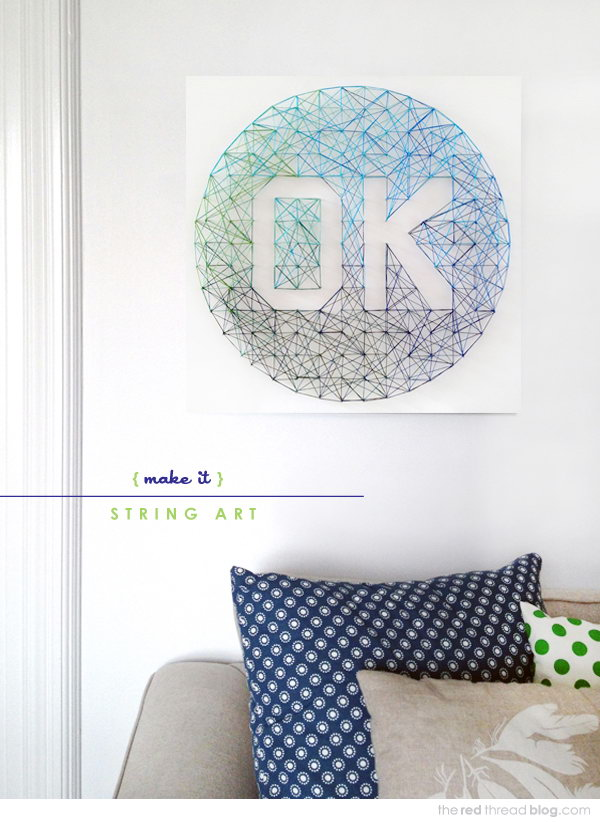 Ombre Wall Art. See the tutorial