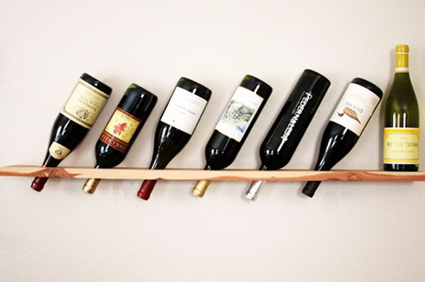 Wood Plank Wine Rack. Get the directions