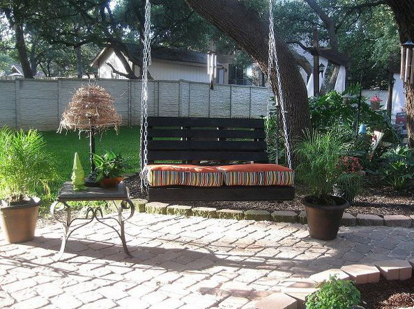 Porch Garden Swing. Get the tutorial