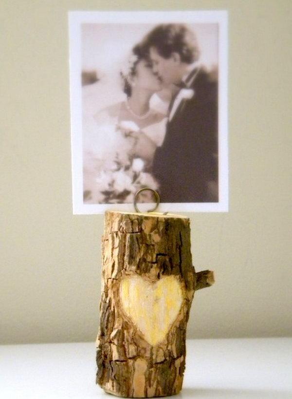 DIY Wood Photo Holder. See more details