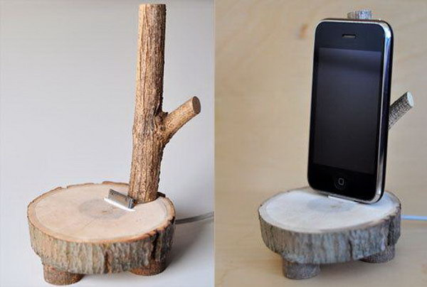DIY wood Phone Holder. See more directions