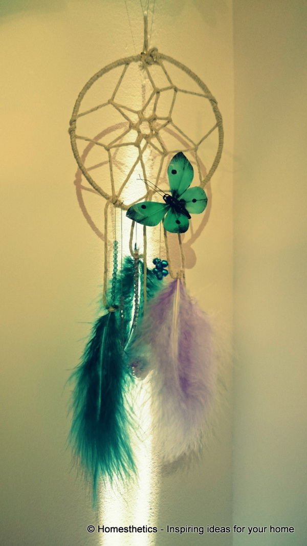 DIY Butterfly Dream Catcher Tutorial .