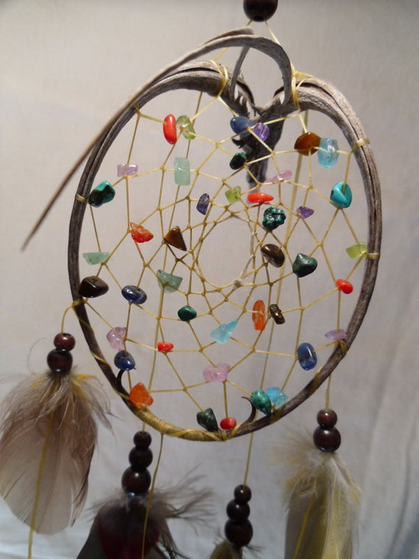 Colorful DIY Dream catcher .