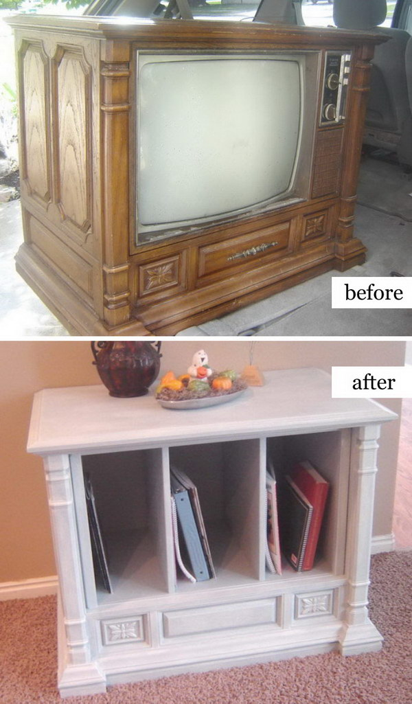 Trash To Treasure Curb Side TV Transformation.