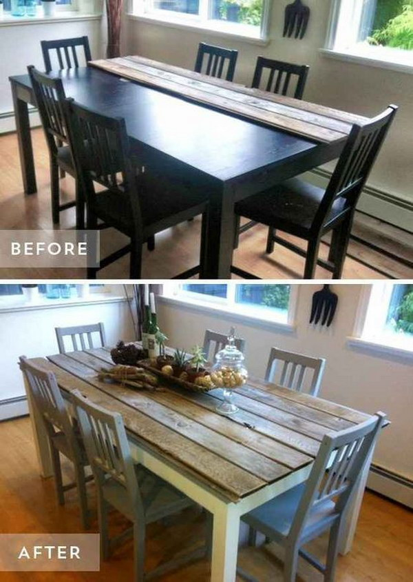 Dining Room Table and Chairs Makeover.