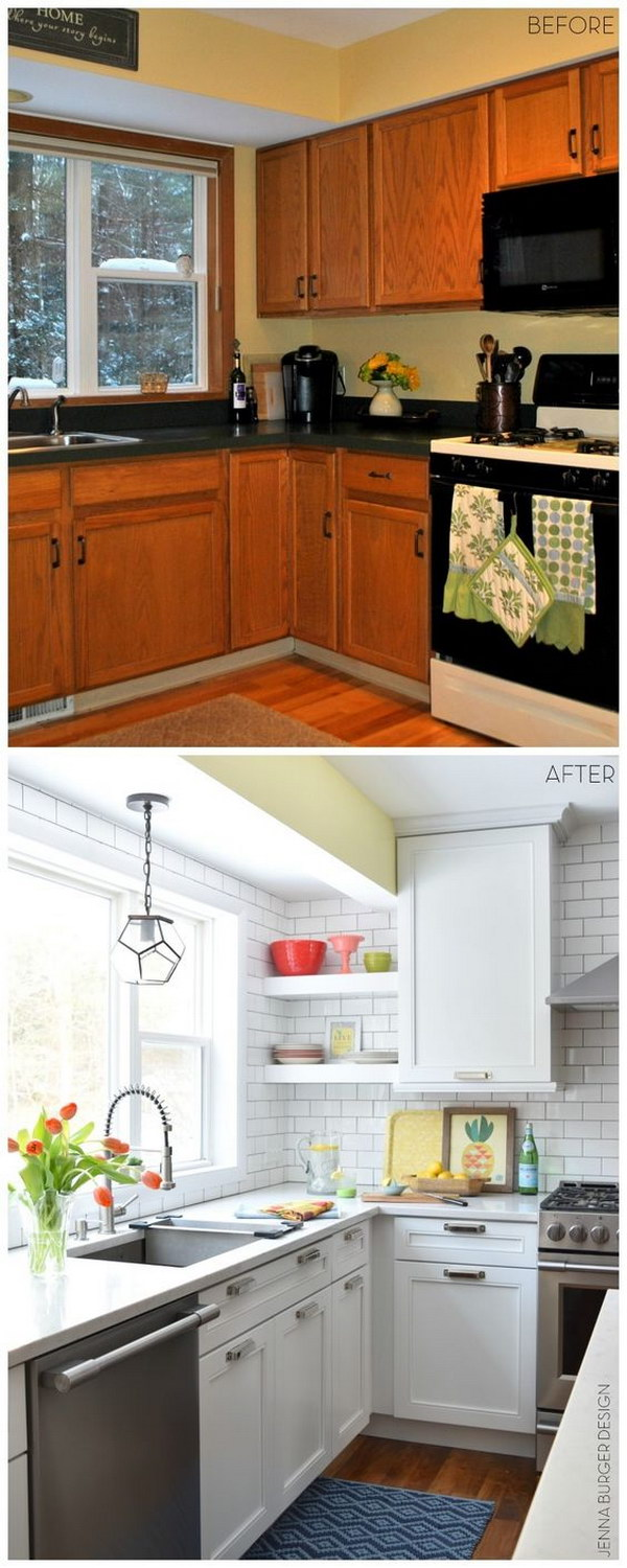 Tile before or after kitchen cabinets