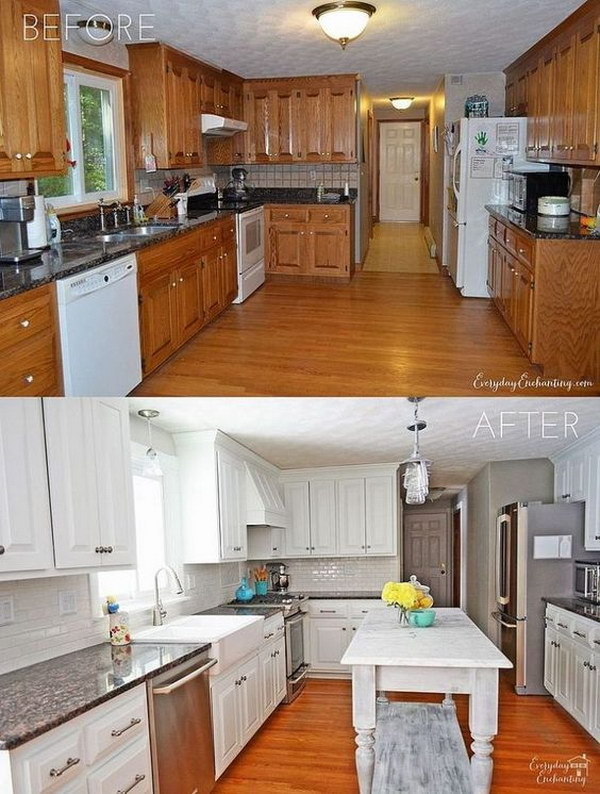 Kitchen Renovation Ideas Before And After kitchen remodel ideas before and after. u shaped kitchen remodel
