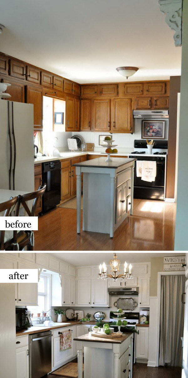 White Kitchen Remodeling with Simple Steps.