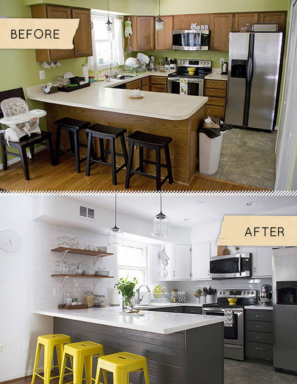 Before & After: A Kitchen is Totally Transformed with a Few Simple Steps.