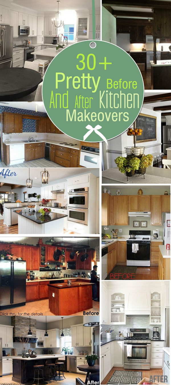 Pretty before and after kitchen makeovers for Before after kitchen makeovers